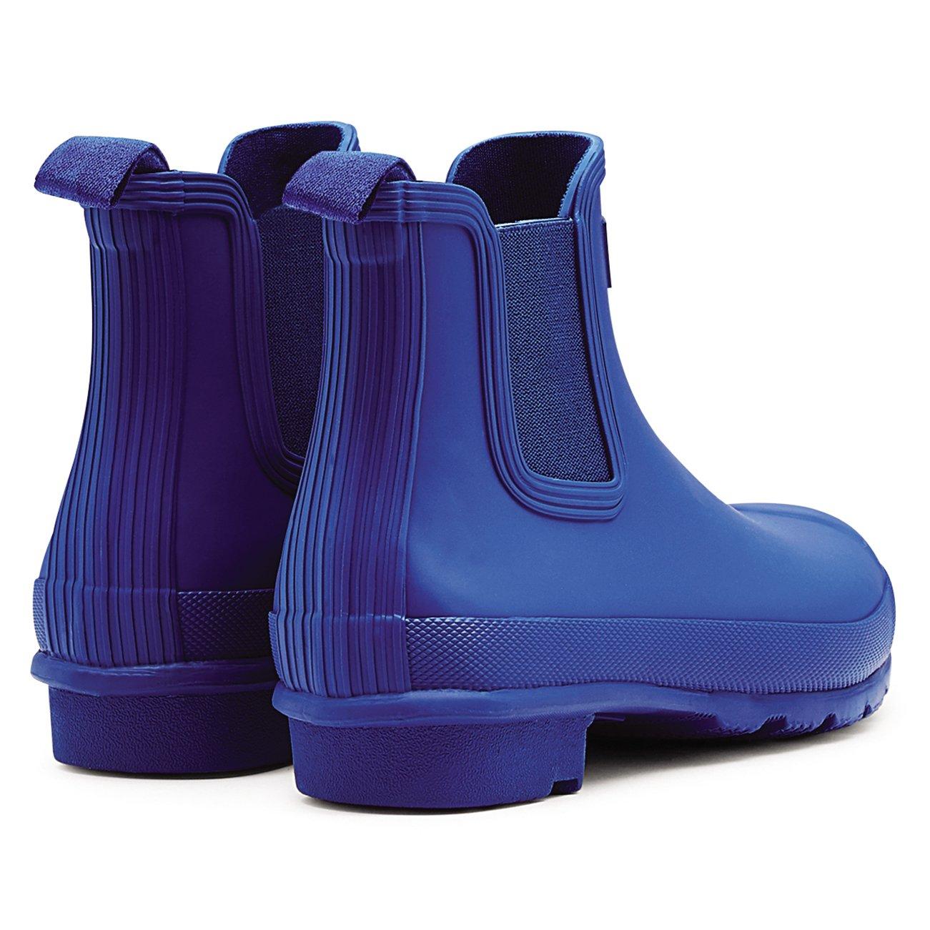 Womens Hunter Original Chelsea Wellingtons Waterproof Rain Ankle Boots B01JOTQJDY 7 B(M) US Azure