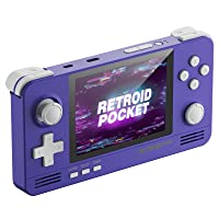 Retroid Pocket 2 Android Handheld Game Console, Dual Boot for Android and retro game console Multiple Emulators Console Handheld 3.5 Inch Display 4000mAh Battery Retro Gaming System for Kids (Indigo)