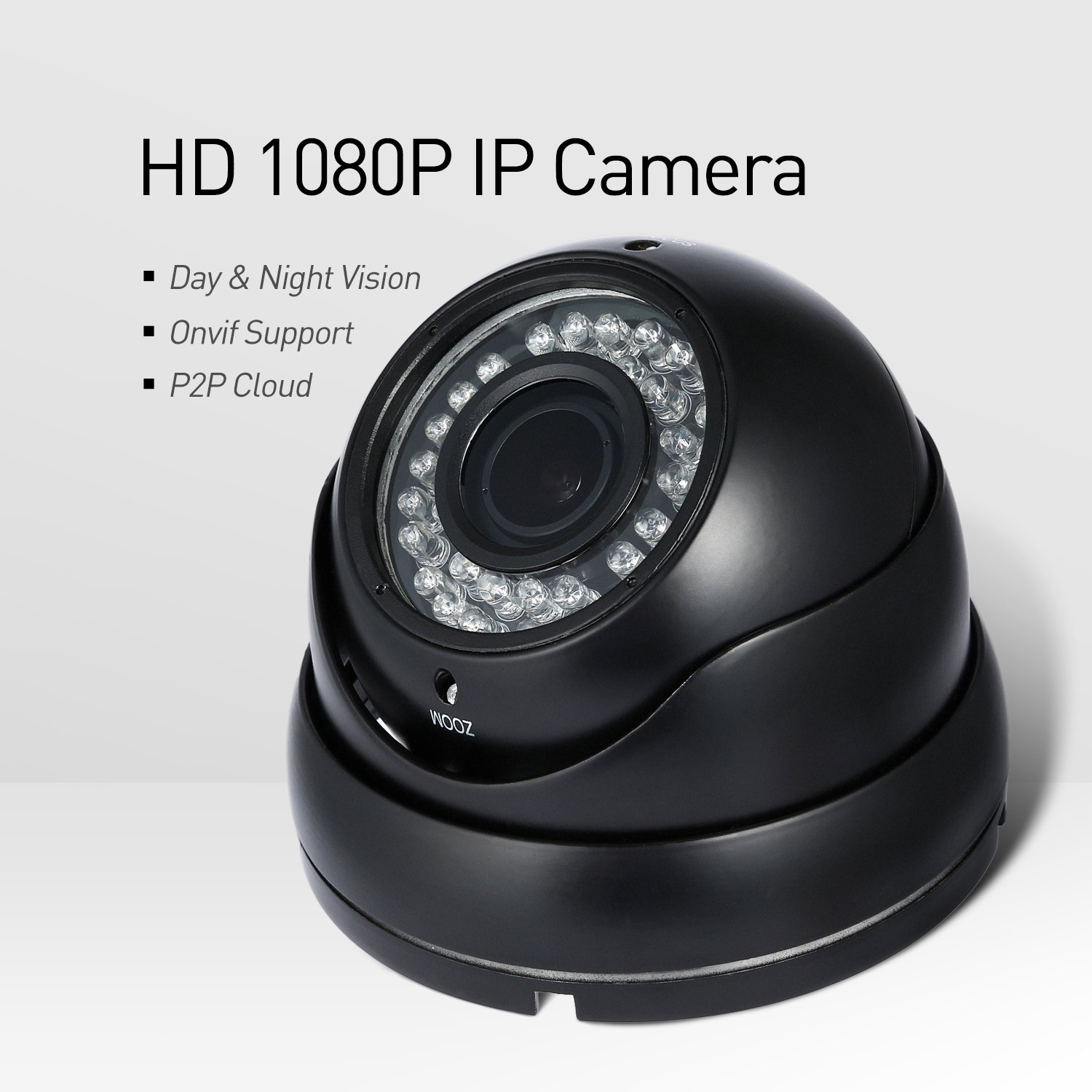 Revotech® - POE 1920 x 1080P 2 0MP 2 8-12mm Zoom IP Camera 36 LED  Waterproof Outdoor Security Camera ONVIF Night Vision P2P CCTV Cam with  IR-Cut