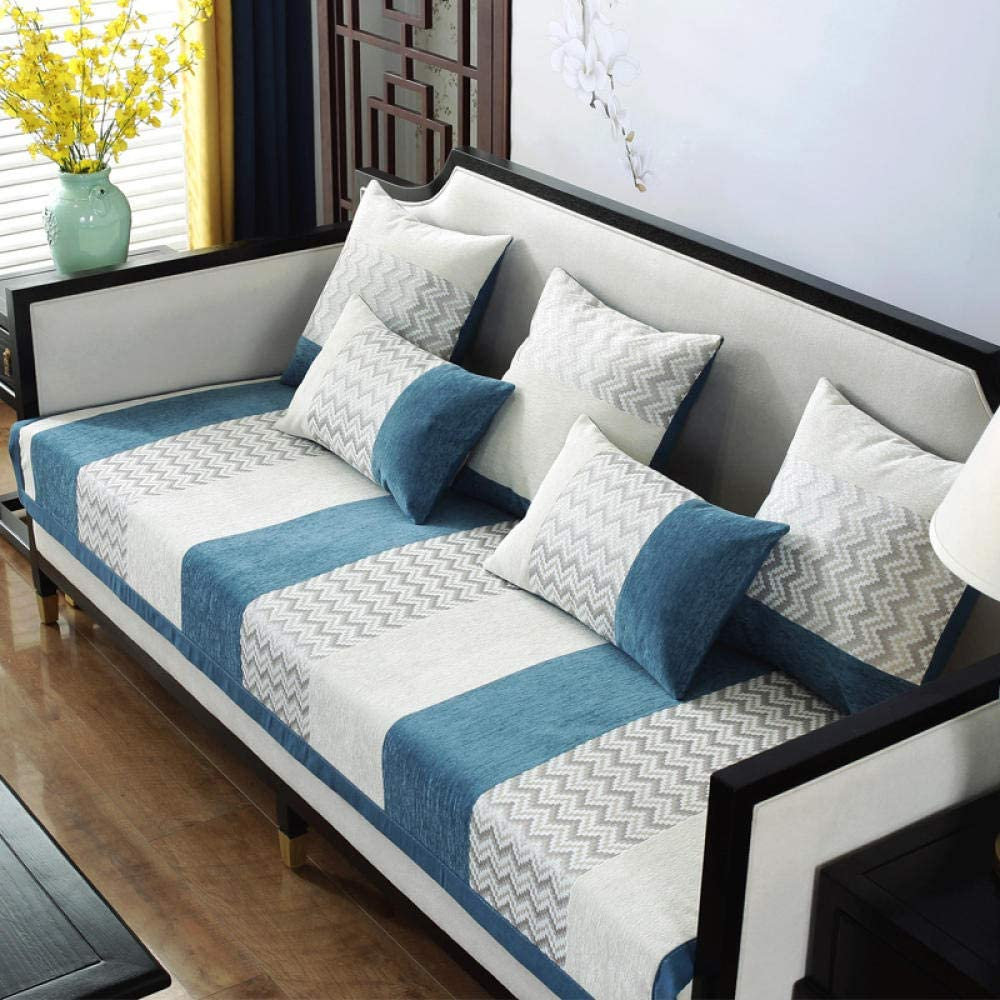 YUTJK Impermeable Funda De Sofa,Antideslizante Durable Lavable Toalla De Sofá Fundas De Sofa Sala Estar Apto para Niños Mascota Gato/Azul 3