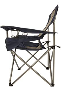Superieur Kamp Rite Padded Folding Chair With Lumbar Support, Tan/Blue