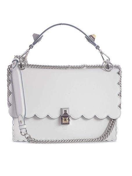 b5b95d4f816 Fendi Women's 8Bt283a18qf0w6q White Leather Shoulder Bag: Amazon.co.uk:  Clothing
