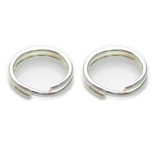 2 x 7 mm anillas de llavero de plata de ley 925. Llaveros ...