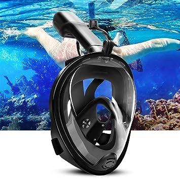 ELEPOWSTAR Snorkel mascarilla natación inmersión snorkel en 180 ...