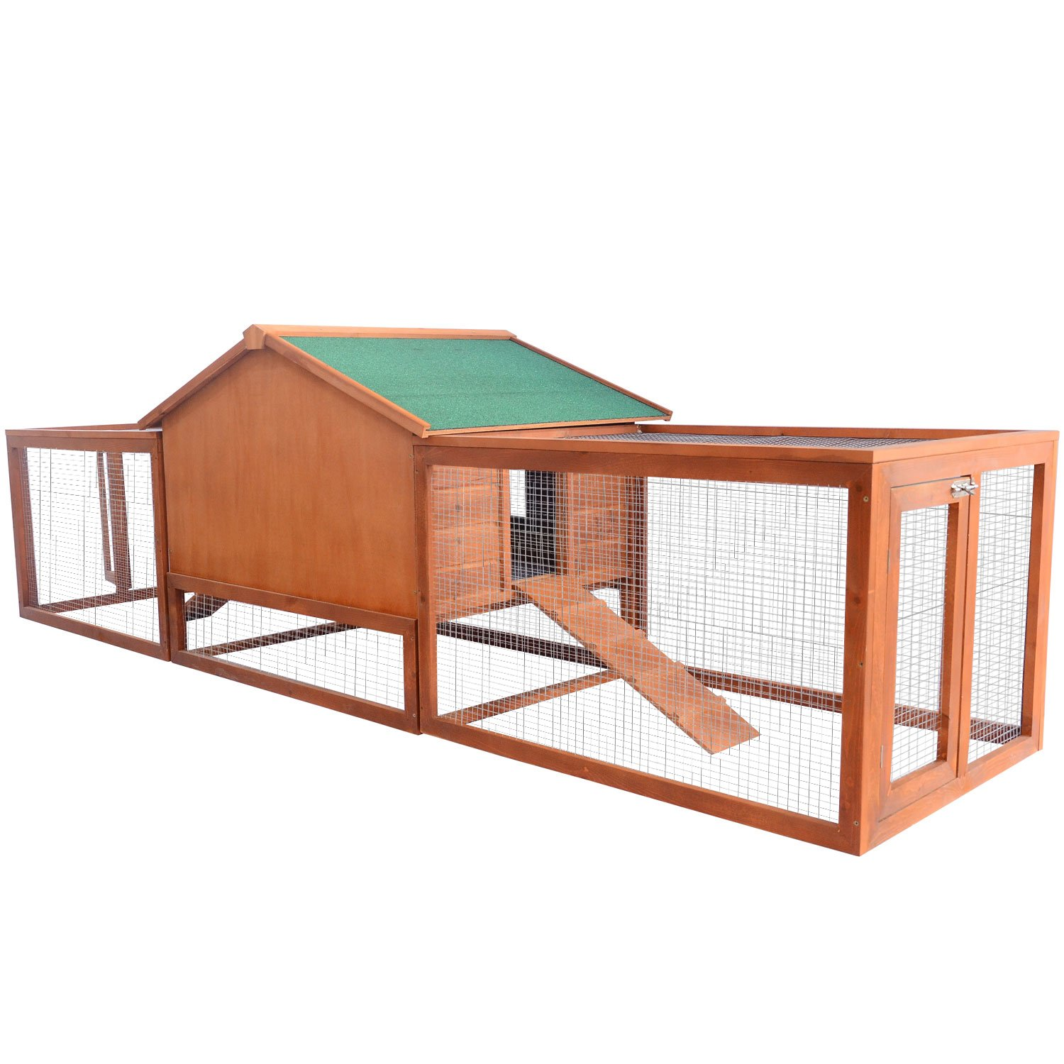 pet pawhut itm run for rabbit wooden hutch hutches bunny sale cage with elevated outdoor house handmade