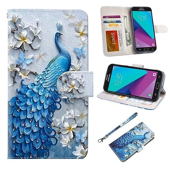 Samsung Galaxy J3 Emerge Case, J3 2017 Case, J3 Prime Case, Amp Prime 2  Case, UrSpeedtekLive J3 Emerge Wallet Case, Premium PU Leather Flip Case  Cover