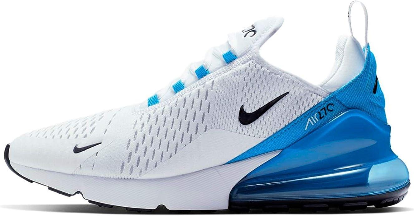 Nike Air MAX 270, Zapatillas de Running para Asfalto para Hombre, Multicolor (White/Black/Photo Blue/Pure Platinum 110), 45 EU: Amazon.es: Zapatos y complementos