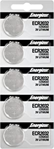Energizer 2032 Battery CR2032 Lithium 3v (1 Pack of 5)