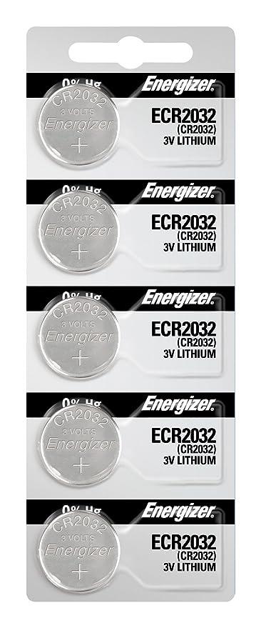 amazon com energizer 2032 battery cr2032 lithium 3v 1 pack of 5