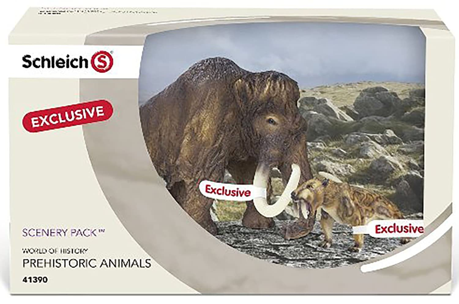16520 Smilodon Exclusive scenery Pack 41390 mamuts Schleich 16517 mamuth