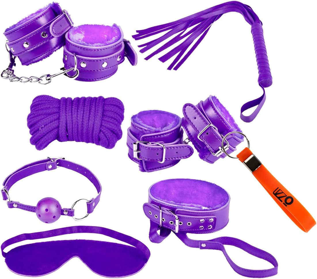 7 Pcs SM Tool BDSM Love Bondage Eye Mask Handcuff Restraints Straps Adult Set