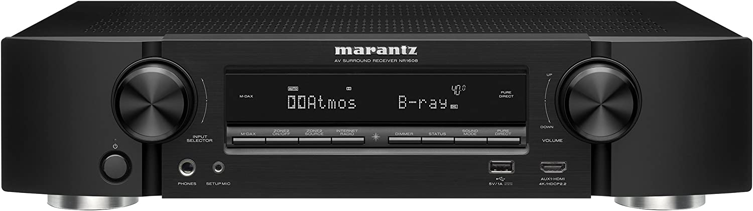 Marantz AV Audio & Video Component Receiver Black (NR1608)