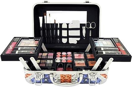Gloss - caja de maquillaje, caja de regalo para mujeres - Maquillaje London Diamonds Gift Set - Set de maquillaje - Maquillaje London Diamonds Case - 50pcs: Amazon.es: Belleza