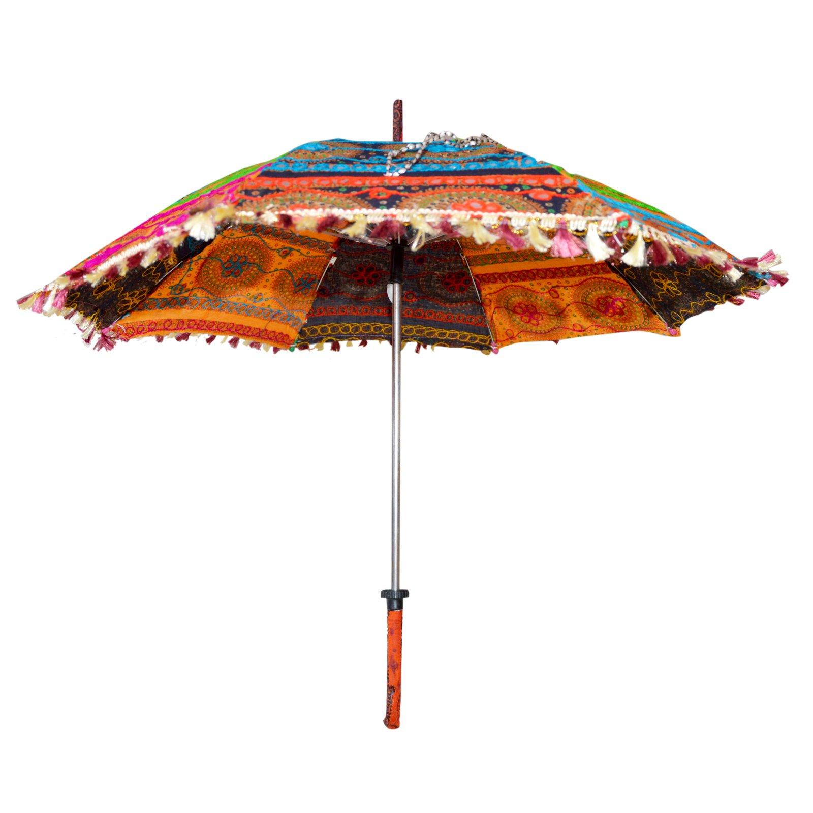 Marusthali Antique Rajasthani Umbrellas Embroidery Designer Cotton Umbrella by Marusthali (Image #2)