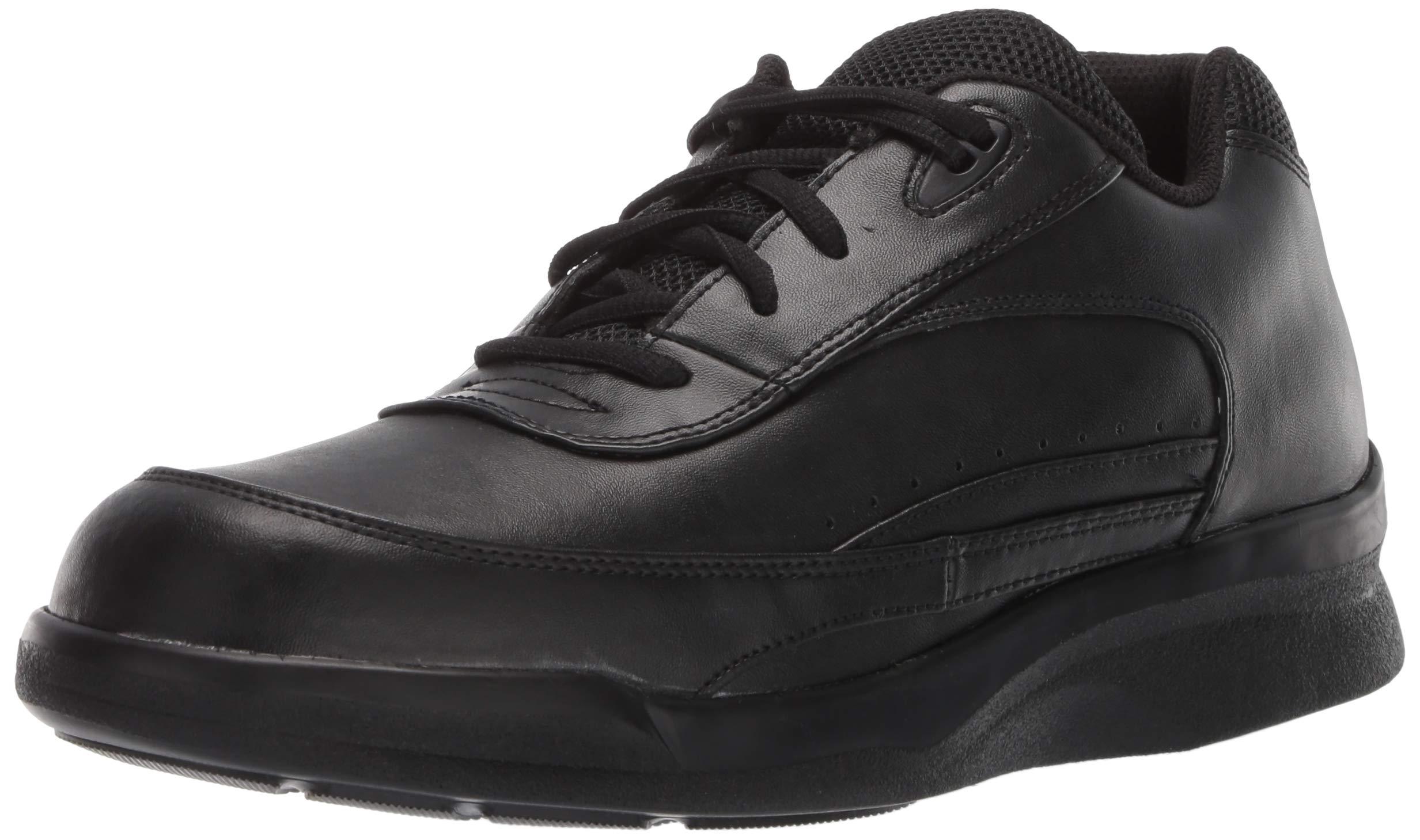 Apex Men's Men's Active Walker Lace - Biomechanical Black Shoe, Black, 11 XW US by Apex