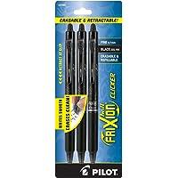 Pilot FriXion Clicker Retractable Erasable Gel Pens, Fine Point, Black Ink, 3-Pack -31464