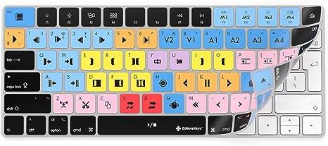 Avid Media Composer - Funda para teclado inalámbrico Apple iMac Magic - Solo compatible con la versión de teclado no numérico | Teclas Editoras