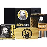 Professor Fuzzworthy Limited Edition Big Beard Care Kit - Beard Shampoo & Boar Bristle Beard Brush - Best Travel Gift Set | 100% Natural & Zero Waste | Organic Essential Oils & Ingredients