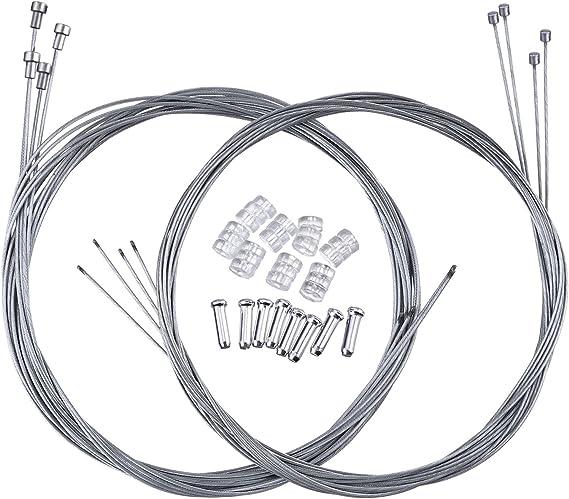 BD/_30Pcs Bicycle  Brake Wire End Core Cap Cable Aluminum Cover Gear Bike Part KG