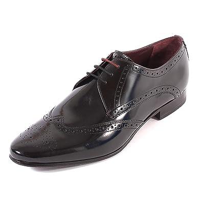 f39b73e7b96e2 Amazon.com  Ted Baker Men s Albbin Leather Lace Up Formal Shoe  Black-Black-7  Shoes