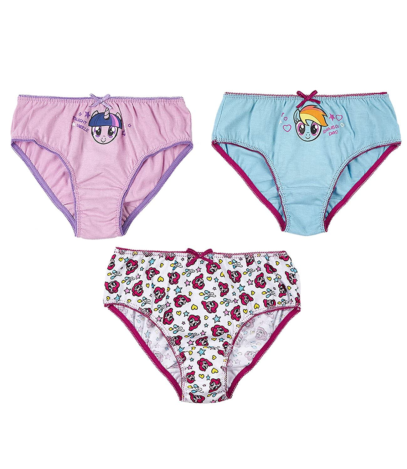 My Little Pony Girls 3 pack brief - purple