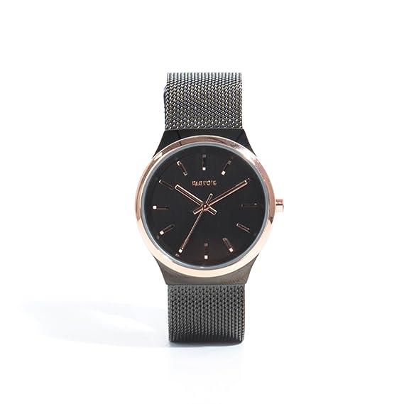 Parfois - Reloj Rose Metal - Mujeres - Tallas M - Níquel Negro: Amazon.es: Relojes