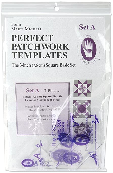 Amazon perfect patchwork 3 inch template set a basic square perfect patchwork 3 inch template set a basic square set package of seven maxwellsz