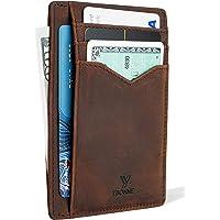 YBONNE New Minimalist Wallet Slim Front Pocket Card Holder RFID Blocking, Made of Finest Genuine Leather