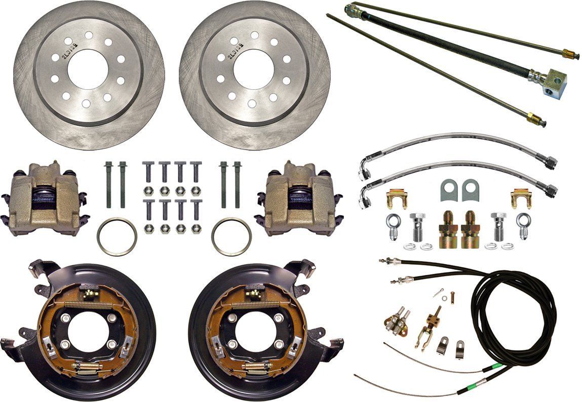 New Currie Disc Brake Kit Rear Parking For Big Pontiac Brakes Diagram Ford Style Axle Flanges 11 Rotors Calipers 5 X 4 1 2 3 Bolt Patterns