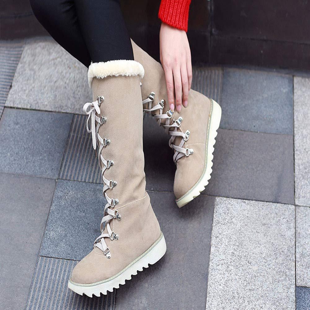 4d678e1fbc45cb Botas para Mujer ZARLLE Retro Otoño Invierno Mujer Genuina Piel De Oveja  Australiana Cuff Invierno Nieve Impermeable Zapatos Long Botas Cuero para  Mujer ...