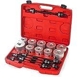 TecTake 27-Piece Bearing Puller Tool Separators Bushings Car Mounting Installation Case Set