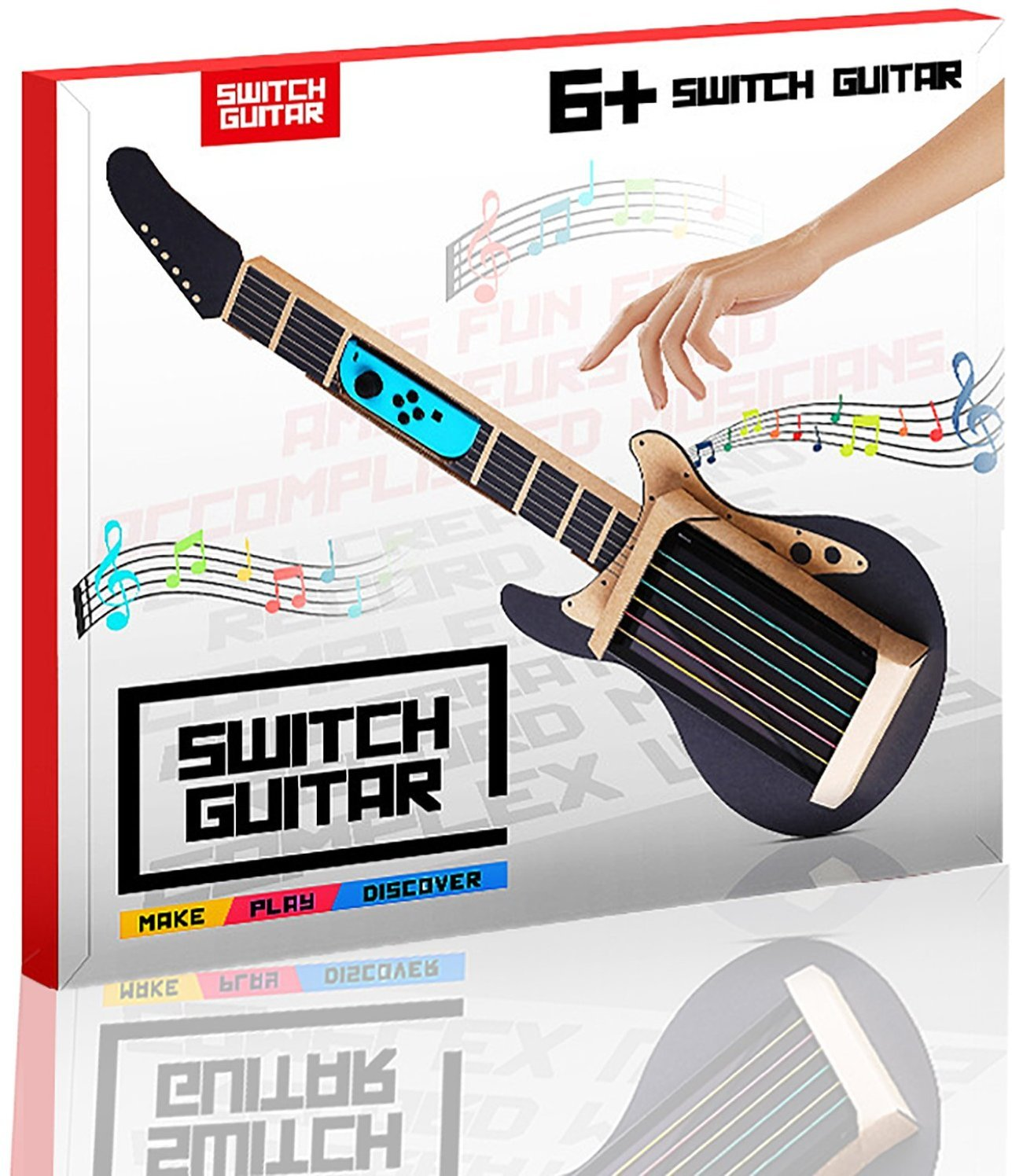 The perseids Guitar Cardboard Stand for Switch Labo Accessories Customization Set, DIY Music Case for Joy-Con Controllers, Toy-Con Garage Mode