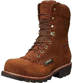 c09e10ca3c0 Amazon.com | Gravel Gear Men's 10in. Waterproof Steel Toe Logger ...