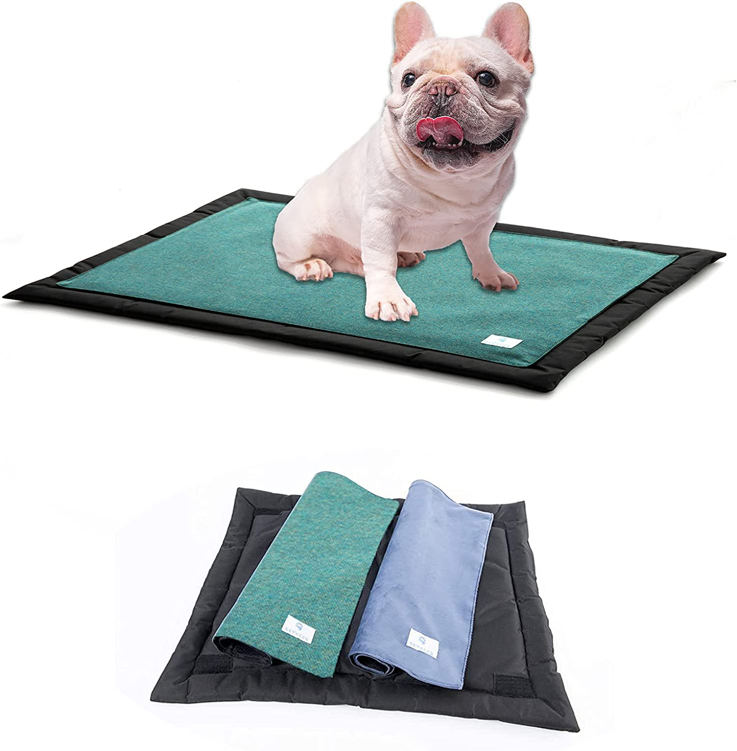 SEYKCES Dog Bed Crate Bed Washable Dog Crate Pad with Removable Cover and Waterproof Liner Pet Bed for Medium Small Dogs and Cats 24