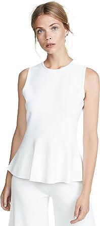 Theory Sleeveless Classic Peplum Top Camisa, Blanco, XL para ...