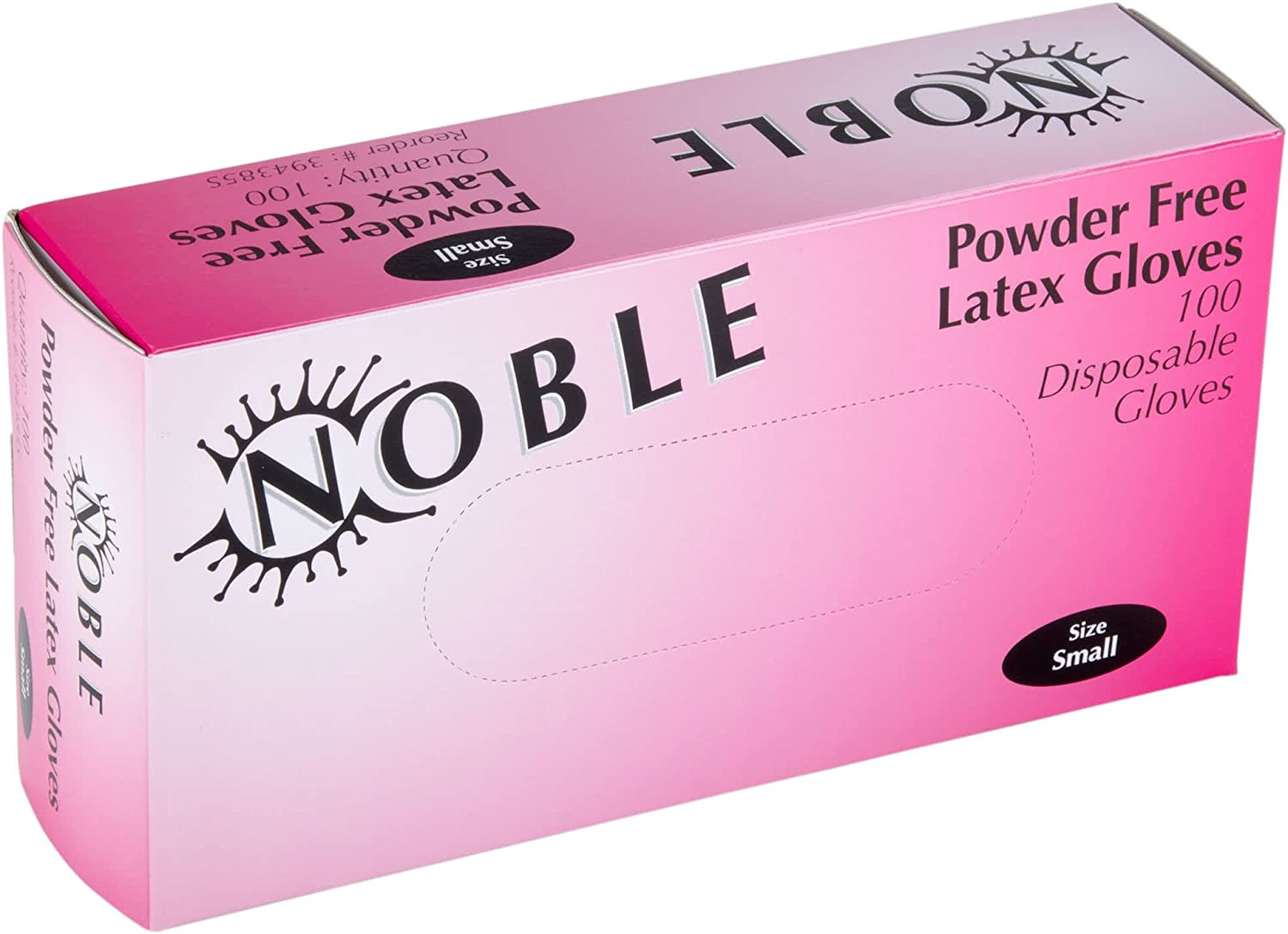 Noble 4.5 Mil Thick Powder-Free Disposable Latex Gloves For Food Service, 100-Pack, Small