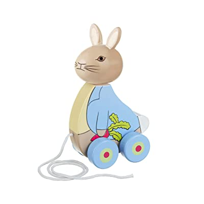 Orange Tree Toys Rabbit Peter Rabbit & Friends Pull Along, Pack of 1: Toys & Games