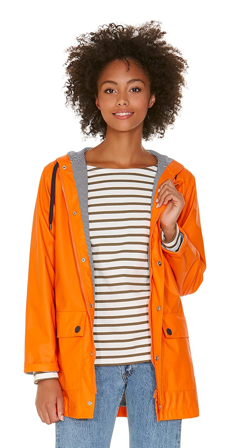 Petit Bateau Ciré_22247, Abrigo impermeable para Mujer, Naranja (feu 76), XXS: Amazon.es: Ropa y accesorios