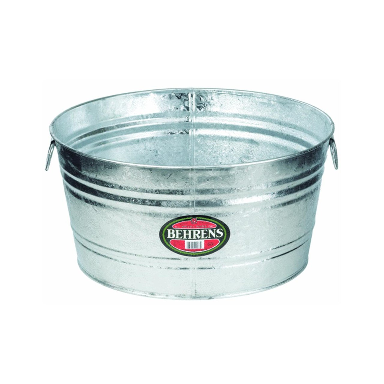 Amazon.com : Behrens 7 35-Gallon Round Steel Tub : Planters : Garden ...