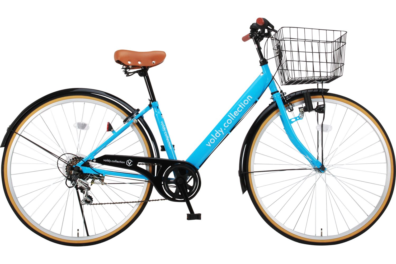Voldy 完成自転車 27インチ LEDライト CTV-276-B シマノ製6段変速 男性 女性兼用 適正身長155cm以上 B01NAOXCUQ スカイブルー スカイブルー