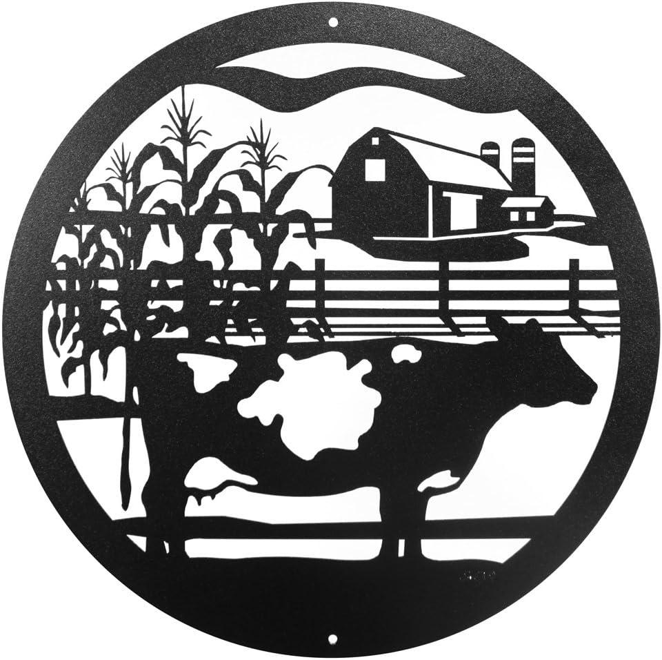 SWEN Products FARM DAIRY COW Steel Scenic Art Wall Design