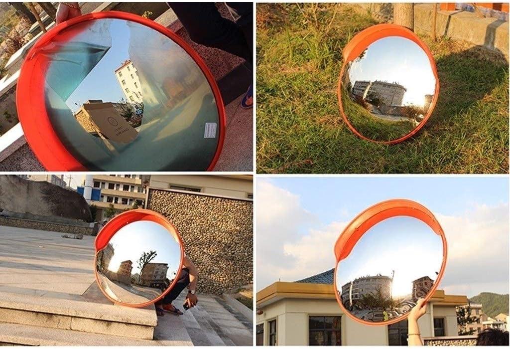 Not Deformed Shatterproof Convex Safety Mirror Parking Lot Entrance Car Blind Spot Mirror Color : A, Size : 80CM 80CM Unbreakable Traffic Mirror
