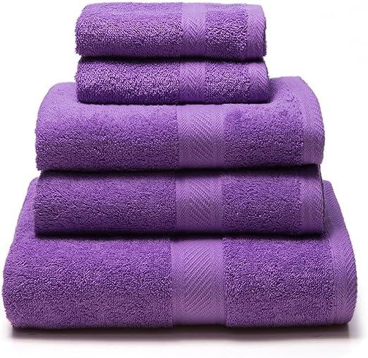Sancarlos - Juego de 5 toallas YANAI, 100% Algodón, Color Morado ...