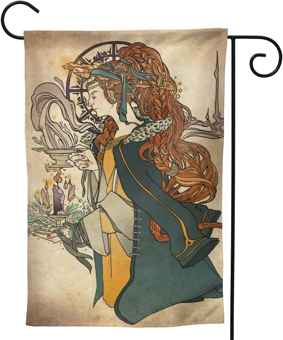 Imbolc Brigid Goddess Celtic Cross Blessing Rituals Candle Seasonal Family Welcome Double Sided Garden Flag Outdoor Funny Decorative Flags For Garden Yard Lawn Decor Party Gift Many Sizes