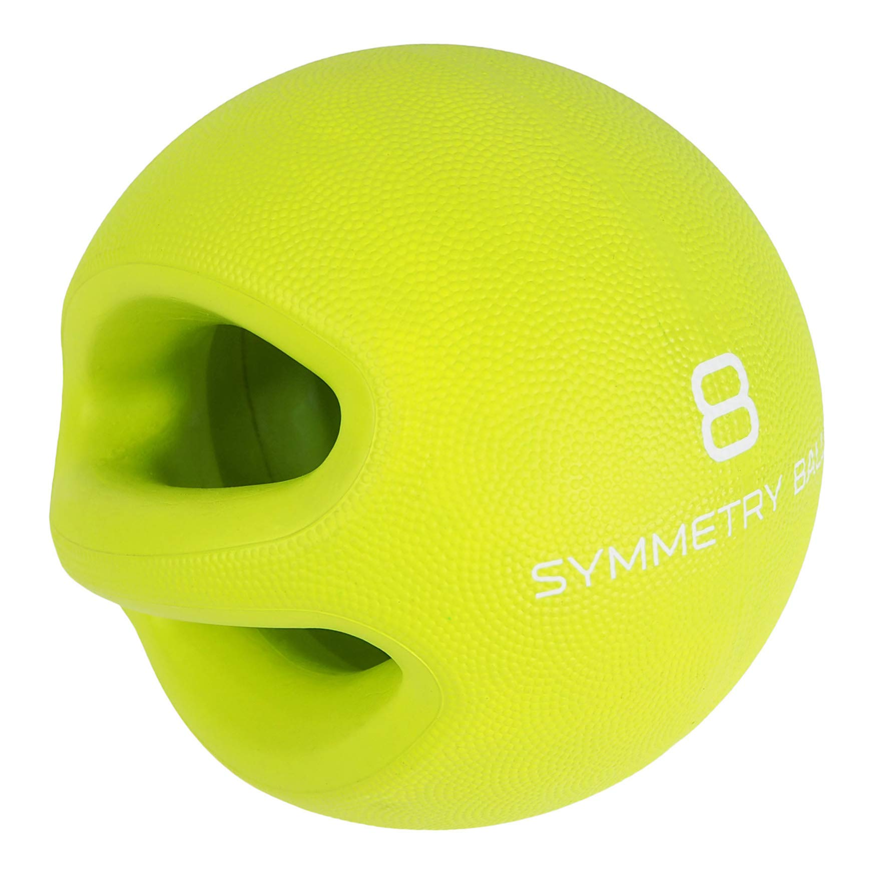 Smart Body Symmetry Ball - Patented Dual Handled Medicine Ball for Core Strength (8-Pound Green)