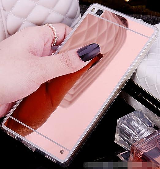 72 opinioni per Huawei P8 lite Cover, LXHGrowH Custodia a Specchio per Huawei P8 lite Gel