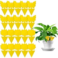 Yellow Sticky Traps, 20 Pcs Sticky Fruit Fly and Plant Gnat Bug Trap for Indoor/Outdoor Use - Insect Catcher for White…