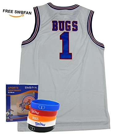 Space Jam de la camiseta # 1 Bugs Bunny Tune Squad Baloncesto Jerseys Movie Inspirado –