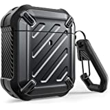 SUPCASE Unicorn Beetle Pro Series Case Designed for Airpods 1 & 2, Full-Body Rugged Protective Case with Carabiner for Apple