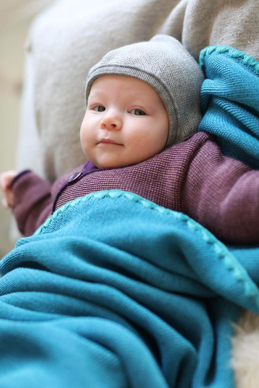 Disana Melange-Babydecke Melange-Babydecke Melange-Babydecke Wolle, Größe  80x100 cm, Grün melange, 80x100 cm B073XSKGQH Bettbezüge 6118a0